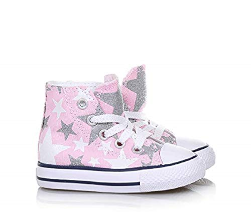 (Converse Baby Sneakers High 756837C CTAS Hi Fairy Pink Stars Little Kid Size 8 M US)