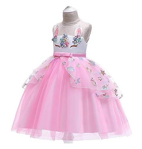 Ragazza Vestito da Unicorno tut/ù Costume da Principessa per Bambina 140 cm 9-10 Anni