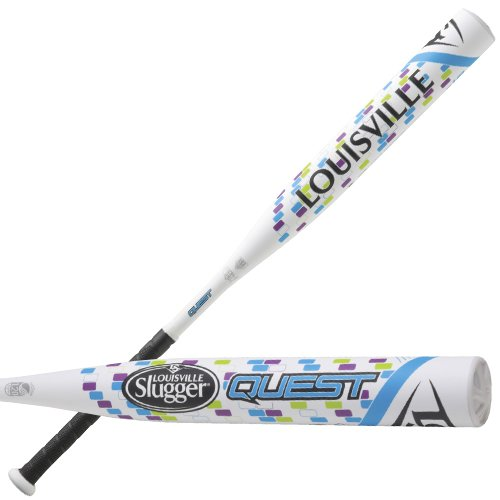 Louisville Slugger Quest  2015 Fastpitch Bat WHITE/BLUE/PUR/