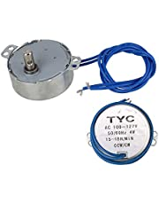 CNBTR TYC-50 15-18 RPM AC110V 4W CW/CCW Synchronous Electric Motor with 7mm Shaft Dia