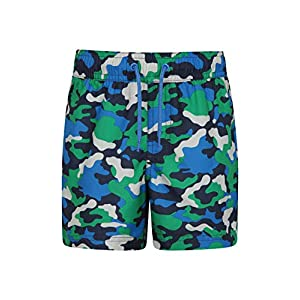 Lightweight Swim Shorts Adjustable Waist Kids Beach Trousers Easy Care Short Pants Practical Mountain Warehouse Patterned Girls Board Shorts Pool for Swimming