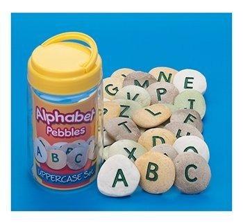 Yellow Door YD-9 Uppercase Alphabet Learning Pebbles for Kids, Kindergarten Grade to 3 Grade, 5