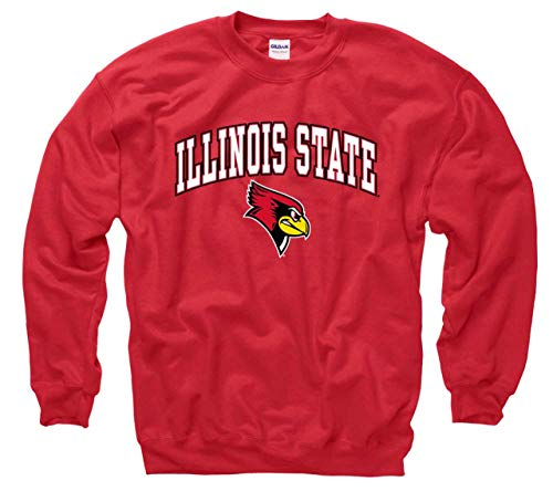 Campus Colors Illinois State Redbirds Arch & Logo Gameday Crewneck Sweatshirt - Red, ()