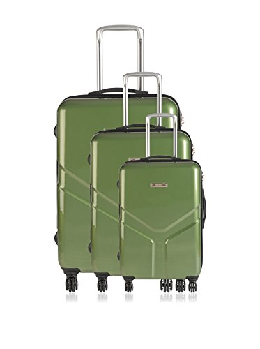 MAJESTIK Set de 3 trolleys rígidos Yoyo Verde