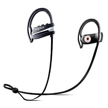 GogoTool Auriculares Bluetooth, Auriculares inalámbricos en la oreja IPX5 Auriculares resistentes al sudor impermeables Mejor modo de espera largo para ...