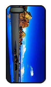 iPhone 5S Case - Customized Unique Design Rocky Beach 33 New Fashion PC Black Hard