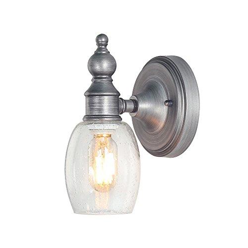 LOG BARN 1-Light Bathroom Vanity Lights Glass Wall Sconces Industrial Wall Lamps Vanity Lighting