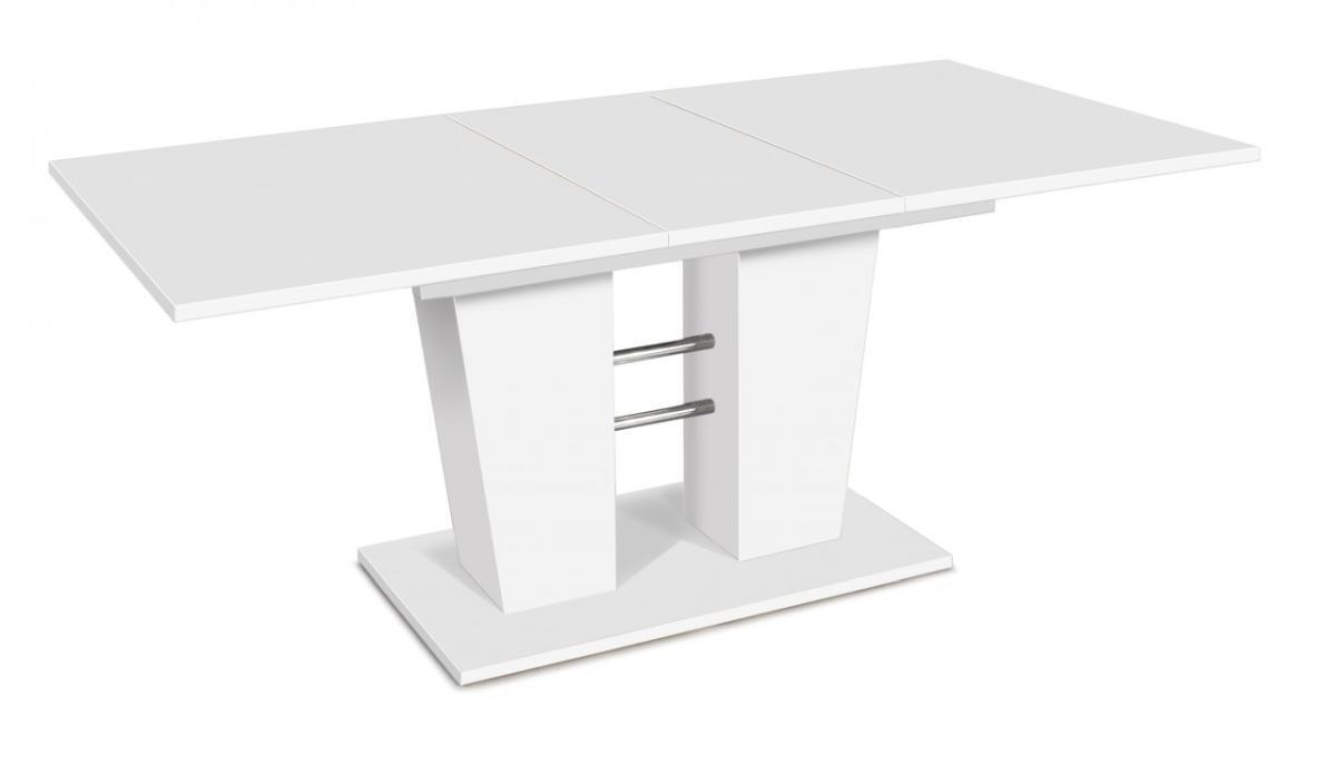 Esstisch 140 ausziehbar weiß  Esstisch BREDA 140 x 90 cm, Tisch ausziehbar in weiß: Amazon.de ...