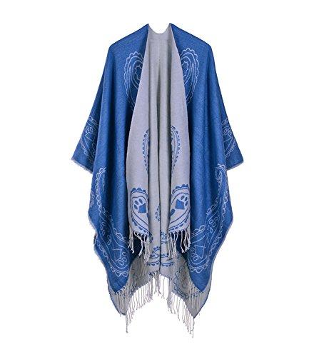Medeshe donna series Poncho 1 Blue AAFwzrq