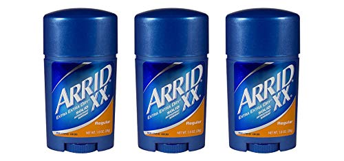 Arrid XX Regular Solid Extra Extra Dry Antiperspirant Deodorant 1 Ounce (Pack Of 3)
