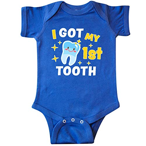 inktastic - I Got My 1st Tooth with Infant Creeper 12 Months Royal Blue ()