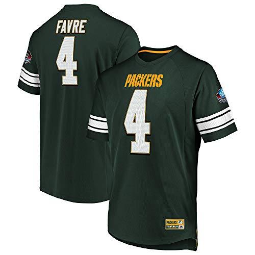- Brett Favre Green Bay Packers Hall of Fame Big & Tall Hashmark Jersey T-Shirt 5XL