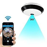 Anviker Cámara de seguridad IP inalámbrica Wi-Fi,Cámara de interior HD de 360 grados para seguridad y oficina doméstica,Cámara de vigilancia multifunción con Audio bidireccional y grabación remota y Detección de movimiento y Visión nocturna por infrarrojos
