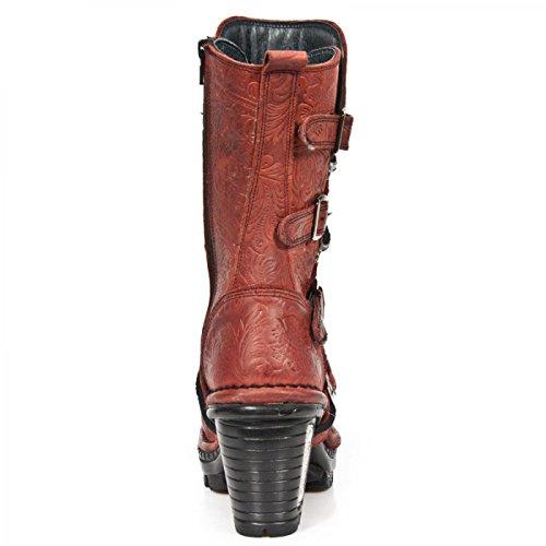 Nuovi Stivali Di Roccia M.neotr005-s14 Gotico Hardrock Punk Damen Stiefel Rot