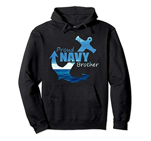 Proud Brother Long Sleeve Hoodie shirt for Navy Army Bro