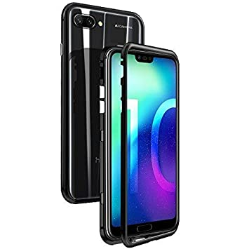 CaseLover-es Funda Huawei Honor 10, Carcasa Honor 10 Metal Aluminio Adsorción Magnética Vidrio Templado Rígida Carcasa Glass Back Case Cover para ...