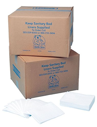 Koala Kare KB15099 Baby Changing Station Sanitary Bed Liners, White (Case of 500)