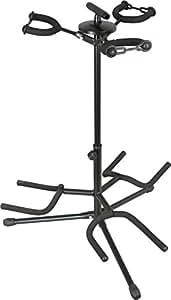 musician 39 s gear triple guitar stand black musical instruments. Black Bedroom Furniture Sets. Home Design Ideas