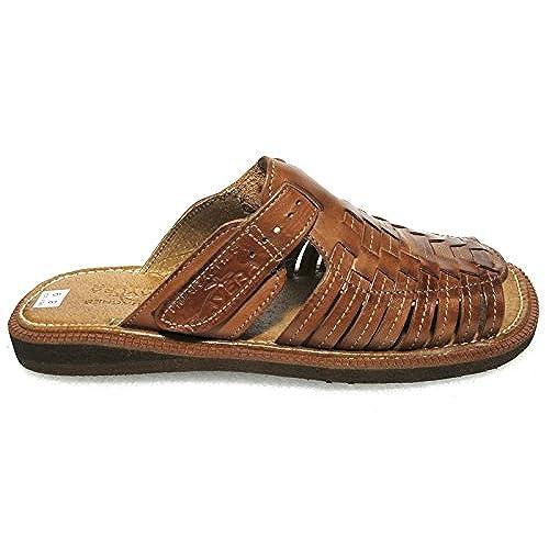 4e6919ebd Men s authentic leather soft handmade Sandals (451-1) flip flop slip on  Huaraches