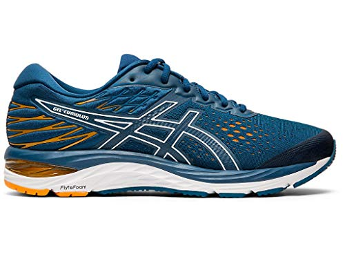 ASICS Men's Gel-Cumulus 21 Running Shoes, 11M, MAKO Blue/White