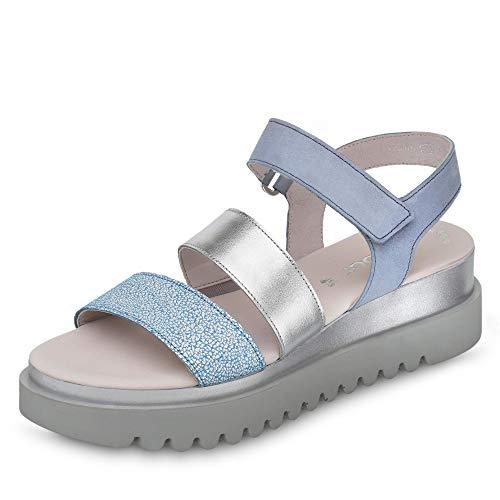 Cuña sandalias sandalias Cuña 23 Cielo sandalias Del Fitting Verano De Gabor 610 best silber zapatos cómodo Mujer plana qxfXwnSwW