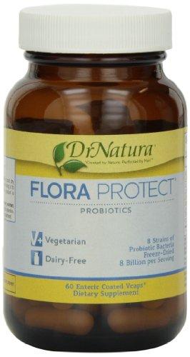(DrNatura Flora Protect Probiotics Probiotic Bacteria Supplement, 60-Vcaps Bottle )