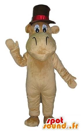 Hipopótamo mascota SpotSound camello marrón con un sombrero grande   Amazon.es  Juguetes y juegos 08d0e9395e1