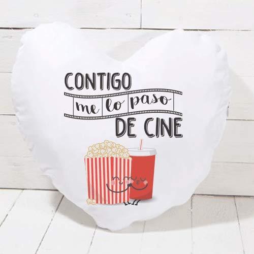 SUPERMOLON Cojín corazón Me lo Paso de Cine: Amazon.es: Hogar