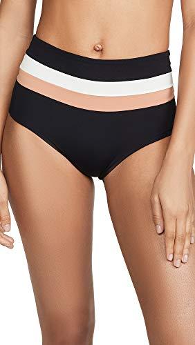 LSpace Women's Frenchi High Waist Bikini Bottoms, Black, Small