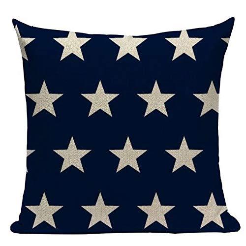 JTHatched - Funda de cojín, diseño de Estrellas, Color Azul Marino