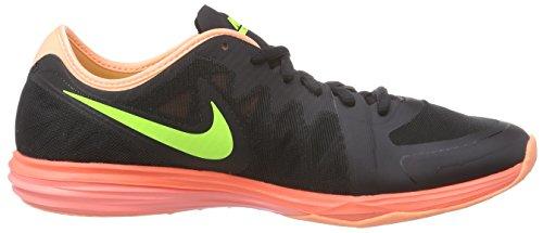 Nike Dual Fusion TR 3, Chaussures de Course Femme Noir - Schwarz (Black/Volt-hot Lava-lava Glow)