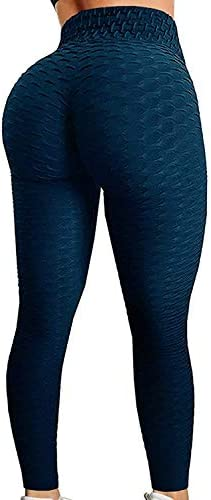 FITTOO Womens High Waisted Yoga Pants Tummy Control Scrunched Booty Leggings Workout Running Butt Lift Textured Tights 1