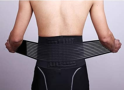 e16ab0cc24f Buy IRIS Back Support Lower Back Brace - provides Back Pain Relief - Breathable  Lumbar Support keeps your Spine Straight and Safe - Belt for Men and Women  ...