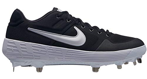 Nike New Mens Alpha Huarache Elite 2 Low Baseball Cleats Black/White Sz 11 ()