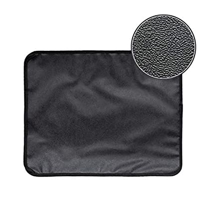 Petsdelite Black, S: Petforu 46 * 60Cm Non-Slip Eva Cat Litter Mat Household Pet Litter Trapper Catcher Mat - Black