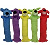 Multipet 6 Pack of Loofa Dog Toys, Assorted Colors