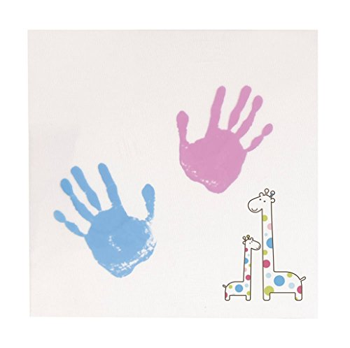 Pearhead Babyprints Newborn Baby Handprint or Footprint Double-Sided Photo Ornament with Clean Touch Ink Pad