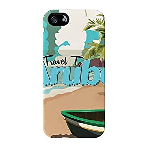 Aruba Full Wrap High Quality 3D Printed Case for iPhone 5 / 5s by Nick Greenaway + FREE Crystal Clear Screen Protector