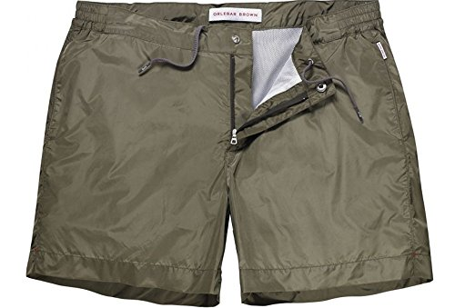 Orlebar Brown Men's Border II Swim Trunks (Dark Sahara) - - Brown And Orlebar