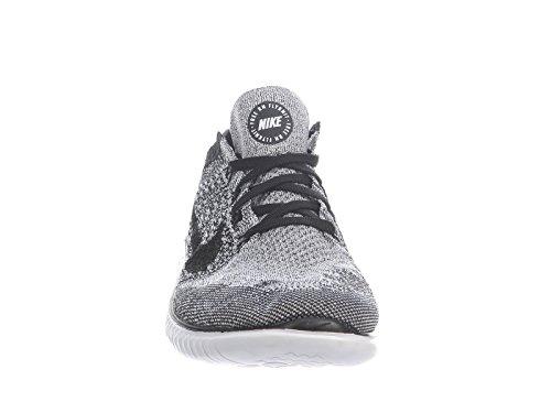 Nike Menns Gratis Rn Flyknit 2018 Nylon Joggesko Hvit / Svart
