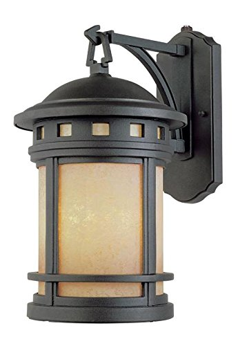 Oil Rubbed Bronze Single Light Down Lighting Energy Star Outdoor Wall Sconce from the Sedona Collection by Designers Fountain