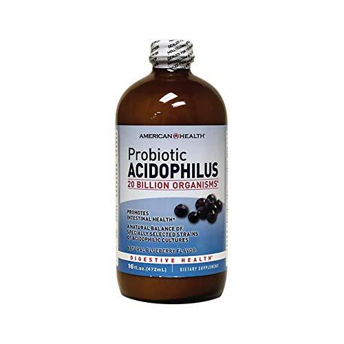 American Health, Acidophilus Liquid, Blueberry, 16 -