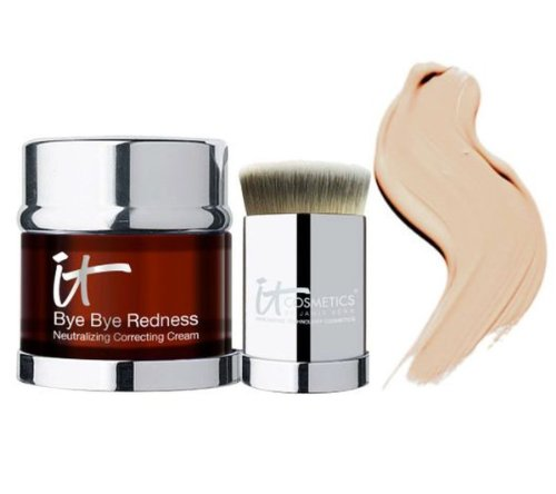 It Cosmetics Bye Bye Redness Anti-Aging Concealing Cream w/ Brush & Stand - in Sealed Bag