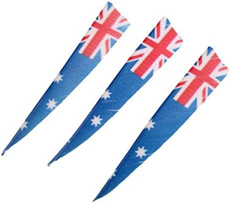 Perfk 全5種選べ 右翼シールド 弓用具 装飾品 フレッチングベーン アーチェリーアクセサリー 交換部品