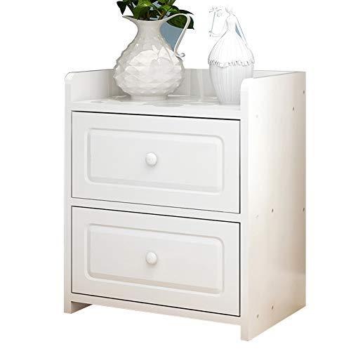 Mesa Gabinete Junto a la Cama, Simple con cajón Caja de Almacenamiento Almacenamiento Multifuncional Dormitorio de la...