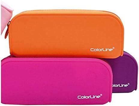 Colorline 58111 - Portatodo de Silicona con Tacto Ultra Soft de Alta Resistencia, Estuche Multiuso para Viaje, Material Escolar, Neceser y Accesorios. Color Morado, Medidas 18 x 7 x 5 cm: Amazon.es: Oficina y papelería