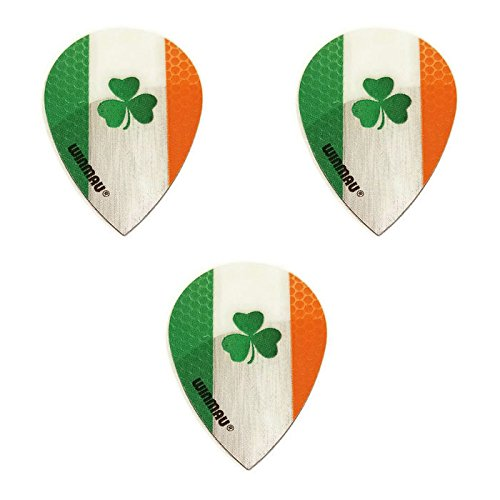 Art Attack Winmau Ireland Fighting Irish Clover 75 Micron Strong Slim Pear Dart Flights (1 Set)]()