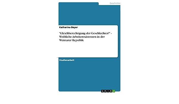 Die Familie und die Gleichberechtigung der Geschlechter (German Edition)