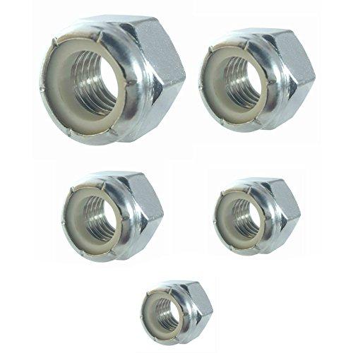 - 185 Qty Assorted Standard SAE Nylon Insert Hex Lock Nuts (BCP238)