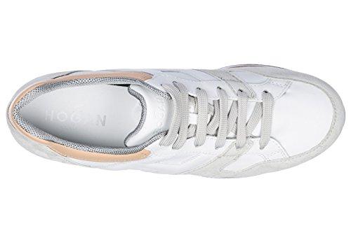 Hogan Vrouwen Schoenen Sneakers Damesschoenen Van Leer Sneakers Wit H330